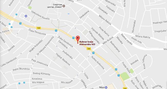 bulevar revolucije beograd mapa Lokacije   Bulevar Kralja Aleksandra 402   D art Collection zavese bulevar revolucije beograd mapa